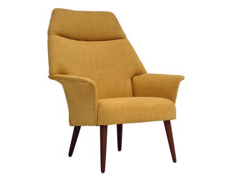 Erhardsen & Andersen, completely renovated high-backed Danish armchair, 60s (1 of 12)