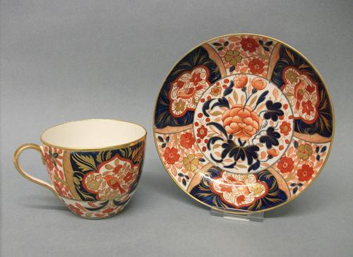 Coalport Bute Shape Cup & Saucer c.1810 (1 of 6)