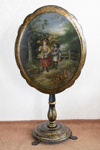 Early 19th Century Hand Painted Papier-mâché Table (1 of 5)
