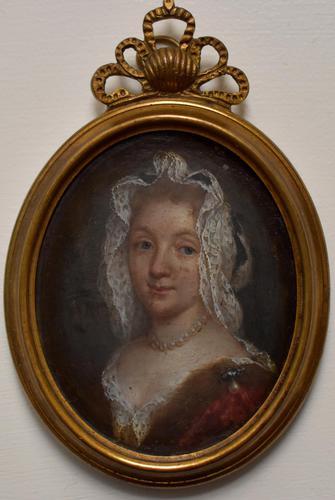 Louise Françoise de Bourbon Portrait Miniature on Copper (1 of 3)