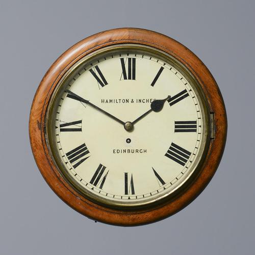 Oak Fusee Wall Clock by Hamilton & Inches (1 of 6)