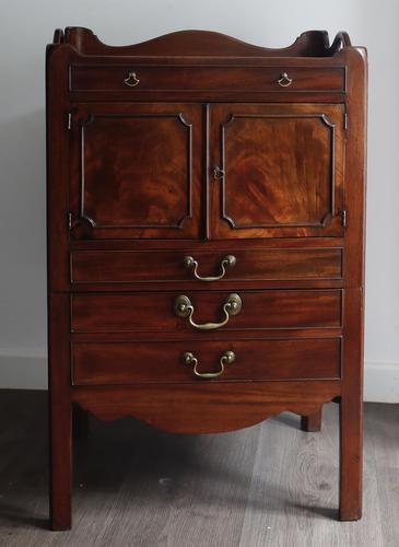 George III Mahogany Tray-top Bedside Commode (1 of 8)