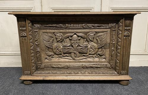 Continental Carved Oak Coffer (1 of 15)