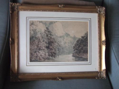 EAF Clark Watercolour of High Tor, Matlock, Derbyshire Dated 1882 (1 of 4)