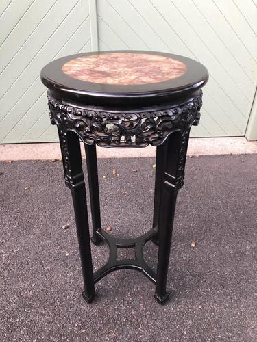 Antique Oriental Chinese Marble Top Stand (1 of 6)