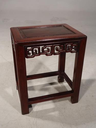 Good Late 19th Century Hardwood Oriental Low Table (1 of 5)