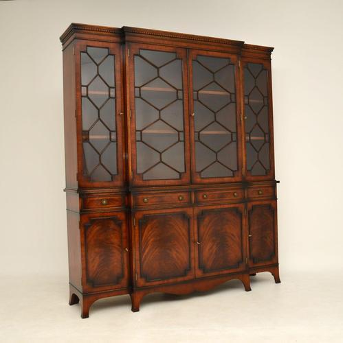 Antique Mahogany Breakfront  Bookcase (1 of 12)