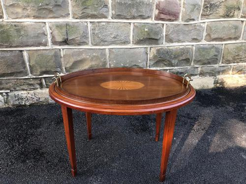 Edwardian Inlaid Mahogany Tray Top Coffee Table (1 of 7)