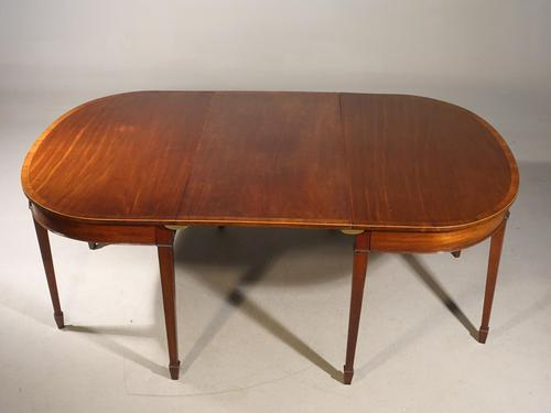Good George III Period Mahogany D End Dining Table (1 of 6)