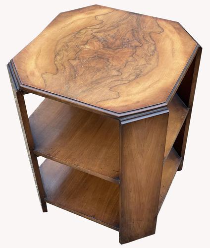 Good Quality Art Deco Burr Walnut Octagonal Side Table (1 of 6)