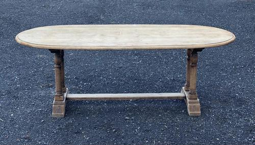 French Bleached Oak Farmhouse Refectory Dining Table (1 of 18)