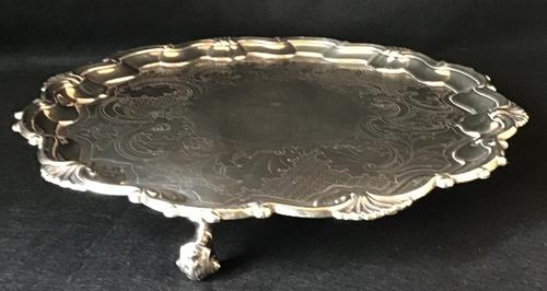 Old Sheffield Plate Silver Plated Salver (1 of 5)