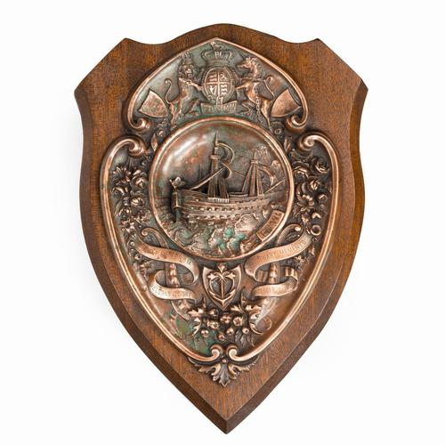 HMS Victory Centennial Copper Shield (1 of 5)