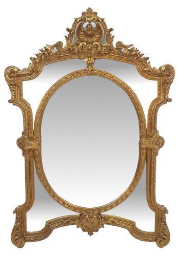 19th Century Gilt Framed Margin Mirror (1 of 3)
