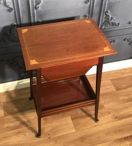 Edwardian Inlaid Mahogany Sewing Box (1 of 11)