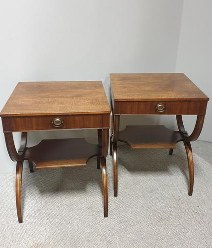 Excellent Pair of Mahogany Side Lamp Tables (1 of 10)