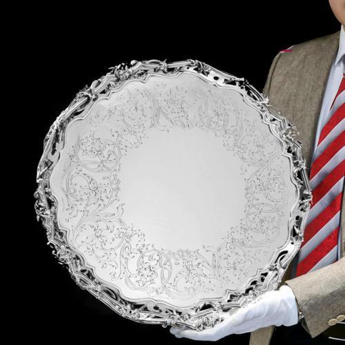 Exceptional Large Solid Sterling Silver Victorian Salver/tray/platter 47cm with Cast Border - Hunt & Roskell - Storr Mortimer & Hunt (1 of 29)