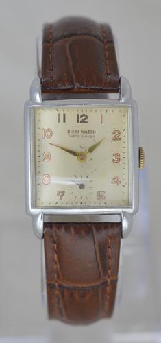 1950s Bieri Watch 'Tank' Style Wristwatch (1 of 5)