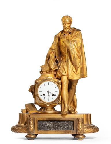 Very Fine Quality 19th Century Gilt Bronze & Bronze Mantel Clock (1 of 6)