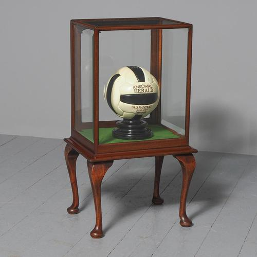 Edwardian Mahogany Display Cabinet on Stand (1 of 6)