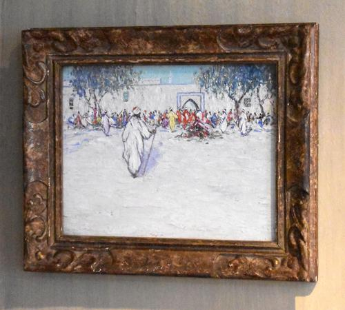 North African market scene oil painting (1 of 9)