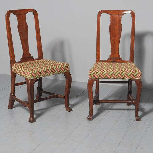 Antique Pair of George II Mahogany Side Chairs (1 of 10)