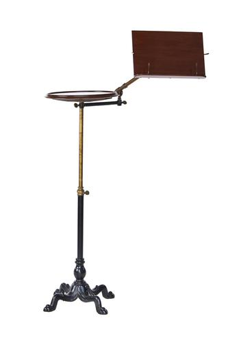 Victorian Carters Telescopic Mah & Brass Reading  Table (1 of 7)