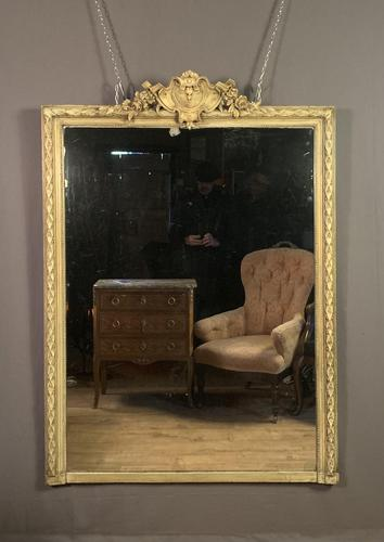Large painted French chateau style mirror (1 of 8)