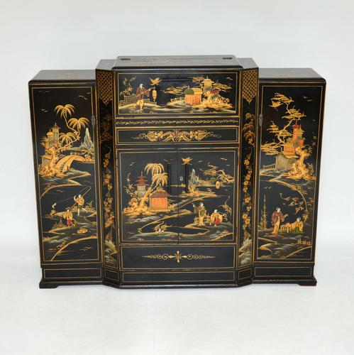 Art Deco Lacquered Chinoiserie Drinks Cabinet / Sideboard (1 of 16)