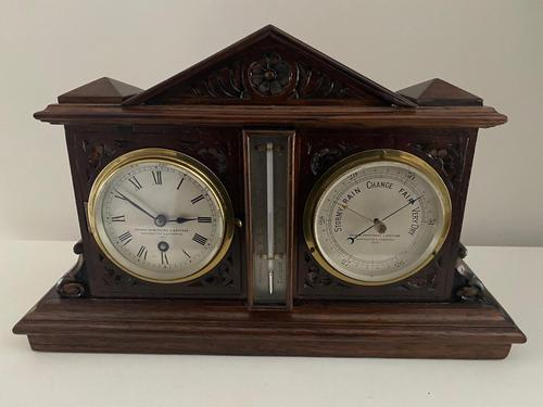 Clock, Barometer & Thermometer by Thomas Armstrong & Brother (1 of 4)