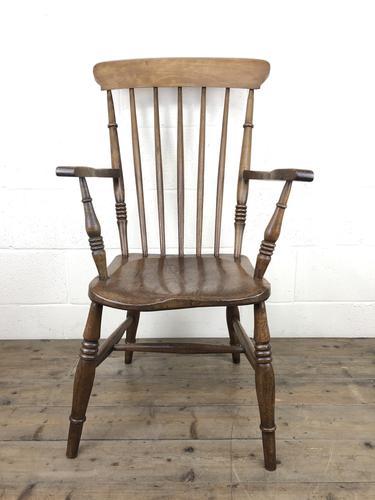 Antique 19th Century Beech & Elm Windsor Armchair (1 of 13)