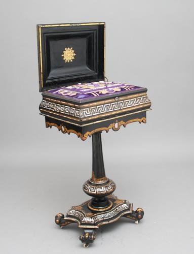 19th Century papier-mache work table (1 of 14)