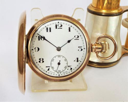 Antique 1920s Swiss Full Hunter Pocket Watch (1 of 6)