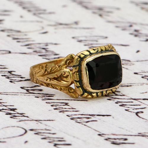 The Antique Georgian 1824 Rectangular Garnet Ring (1 of 5)