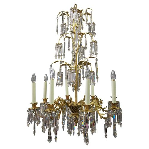 Edwardian Gilded and Glass Chandelier (1 of 13)
