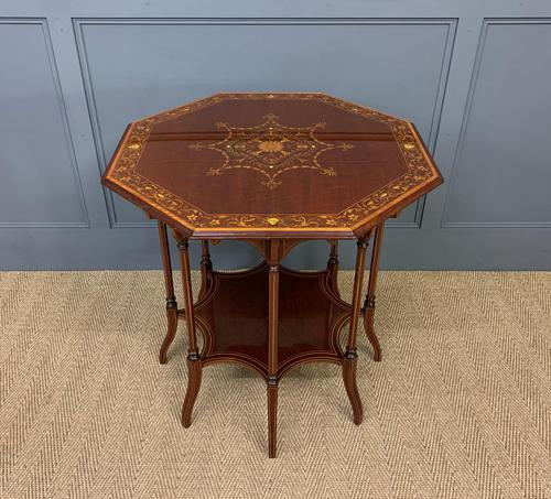 Edwards & Roberts Inlaid Mahogany Centre Table (1 of 15)