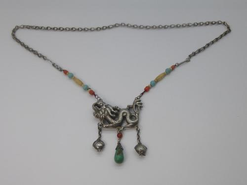 Art Deco Dragon Necklace (1 of 6)