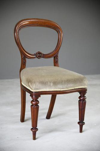 Single Mahogany Balloon Back Dining Chair (1 of 10)