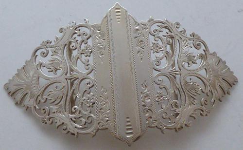 Sheffield 1900 Hallmarked Solid Silver Nurses Belt Buckle George Guirron Rhoden (1 of 8)