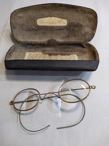 Pair of Doctor's wire rimmed glasses with wrap around arms (1 of 3)