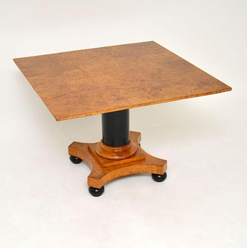 Antique Swedish Biedermeier Birch & Ebony Coffee Table (1 of 9)