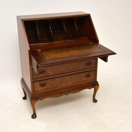 Antique Burr  Walnut Writing Bureau (1 of 9)