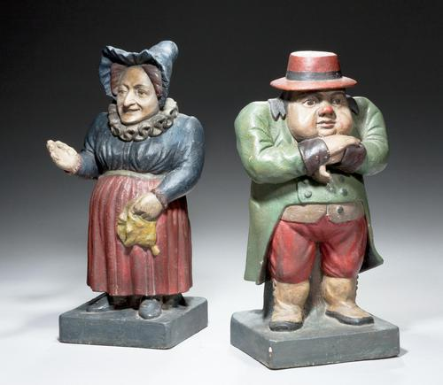 Pair of Mid 19th Century Polychrome Figures (1 of 5)