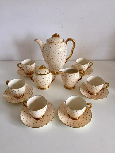 Beautiful Fine China Carlton Ware Polka Dot Coffee Set 1920's (1 of 25)