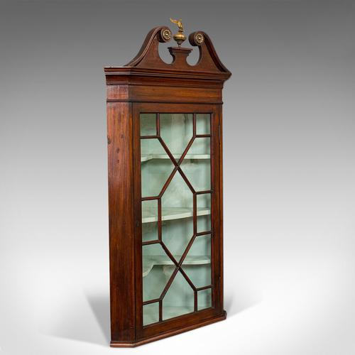 Antique Corner Cabinet, English, Mahogany, Wall, Georgian, Astragal Glaze, 1790 (1 of 12)