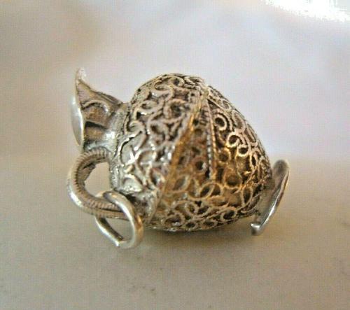 Vintage Sterling Silver Bracelet Charm 1960s Large Wine Pitcher Charm 5.6 Grams (1 of 8)