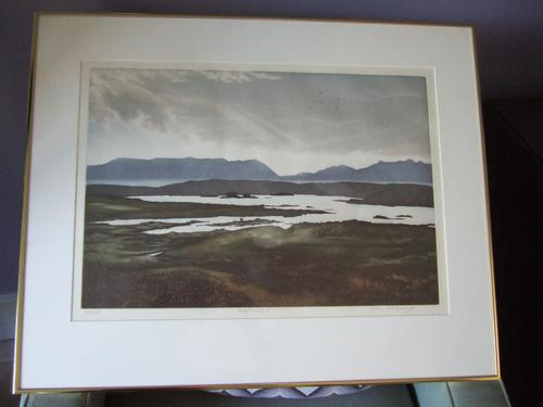 """John McNulty Limited Edition Lithograph """"Bogland I"""" (1 of 5)"""
