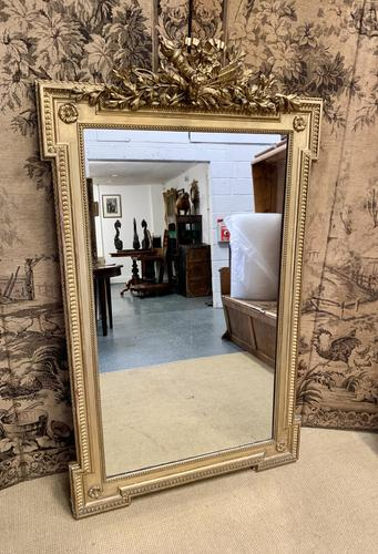 French 19th Century Gilt Wall Mirror with Carved Decoration (1 of 9)