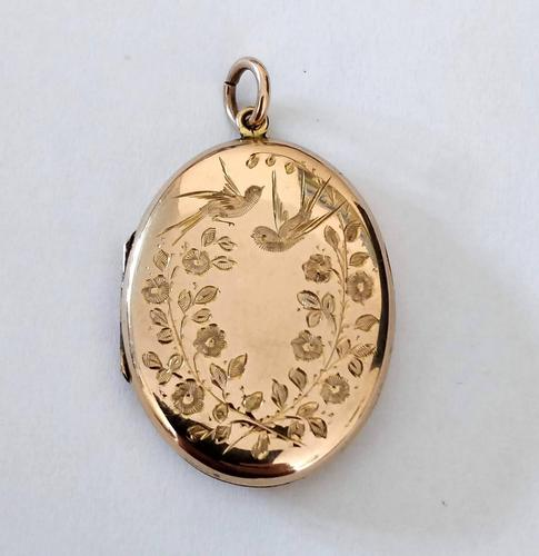 Superb Victorian Oval 9ct Back and Front Locket (1 of 7)