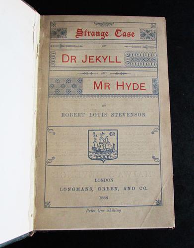 1888 Strange Case of Dr. Jekyll & Mr. Hyde  By Robert Louis  Stevenson  Rare Edition (1 of 5)